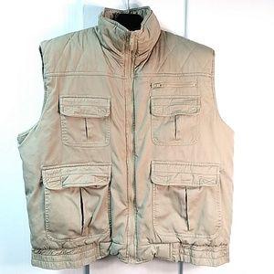 Trail's End Zippered Vest Tan Size XL